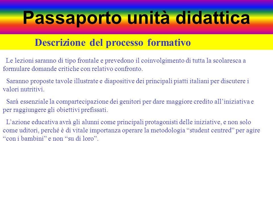 Passaporto unità didattica Area tematica Lingua italiana Lingue e culture del mondo Geografia Storia Scienze Matematica Teatro Tecnologia Handicap Edu