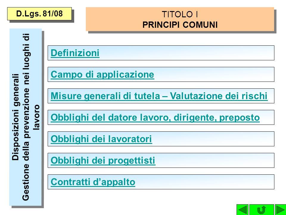 D.Lgs. 81/08 Servizio di Prevenzione e Protezione Compiti del Servizio di Prevenzione e Protezione Svolgimento diretto da parte del datore di lavoro d