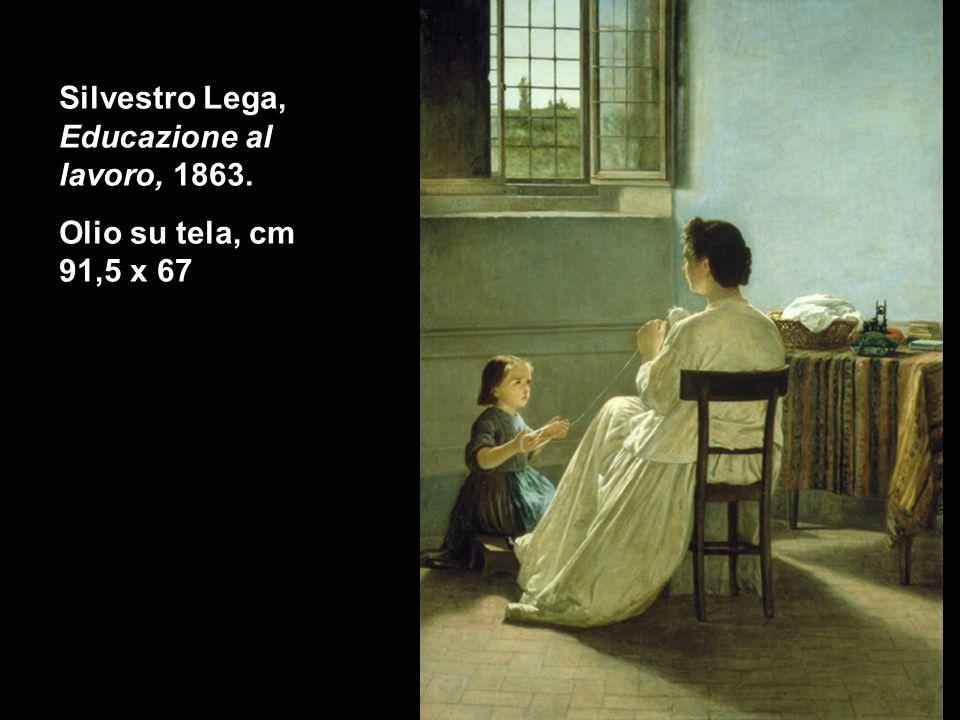 Silvestro Lega, Educazione al lavoro, 1863. Olio su tela, cm 91,5 x 67