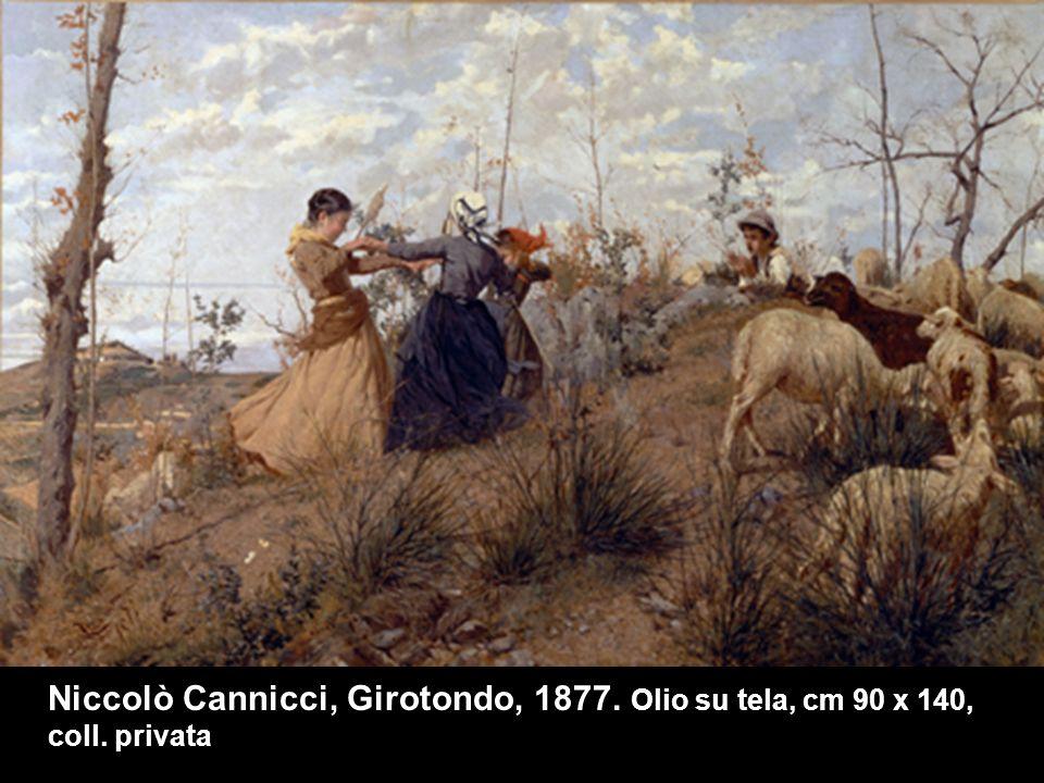 Niccolò Cannicci, Girotondo, 1877. Olio su tela, cm 90 x 140, coll. privata
