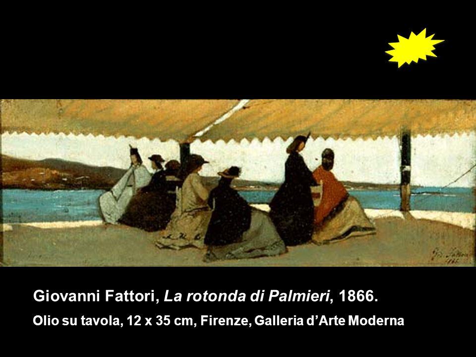 Giovanni Fattori, La rotonda di Palmieri, 1866. Olio su tavola, 12 x 35 cm, Firenze, Galleria dArte Moderna
