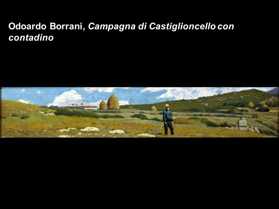 Odoardo Borrani, Campagna di Castiglioncello con contadino