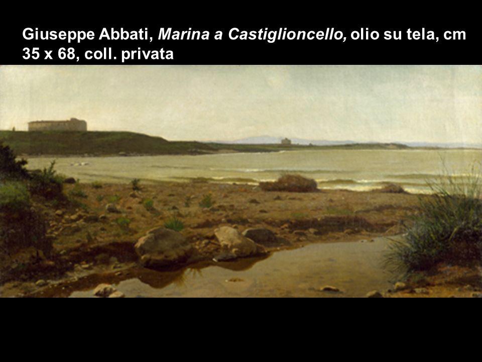 Raffaello Sernesi, Marina a Castiglioncello, olio su tela, cm 30 x 82, coll. privata