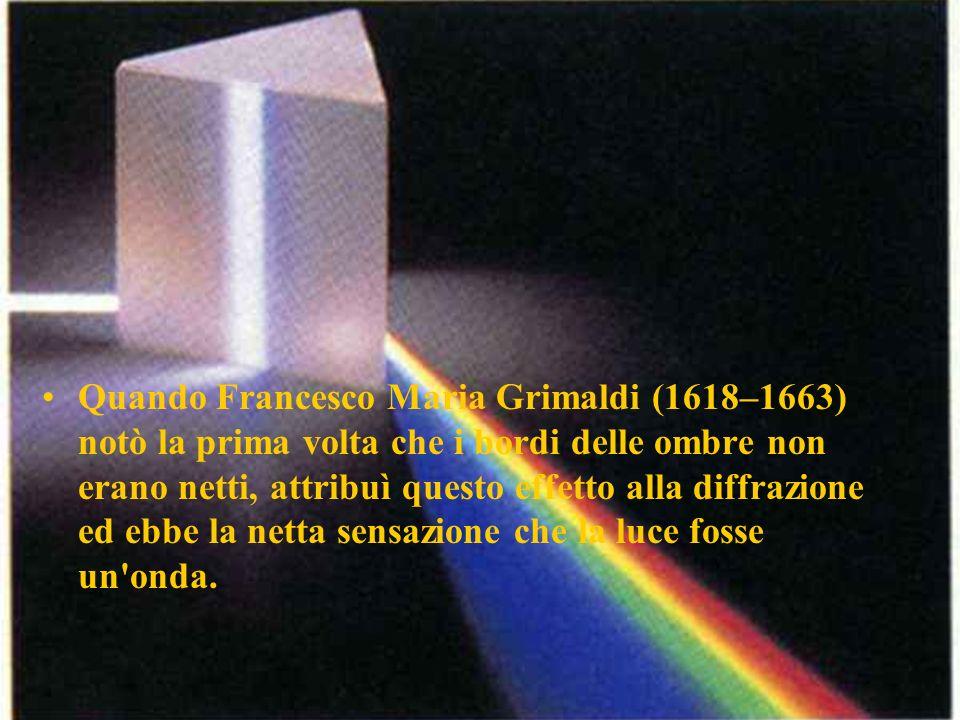 Quando Francesco Maria Grimaldi (1618–1663) notò la prima volta che i bordi delle ombre non erano netti, attribuì questo effetto alla diffrazione ed e
