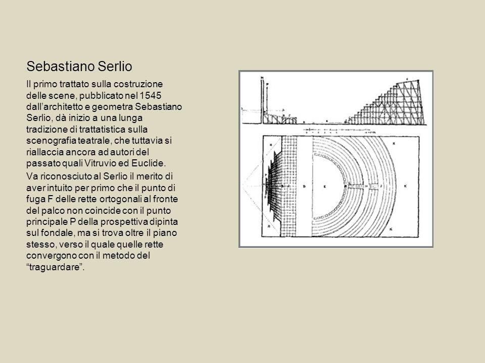 Sebastiano Serlio Il primo trattato sulla costruzione delle scene, pubblicato nel 1545 dallarchitetto e geometra Sebastiano Serlio, dà inizio a una lu