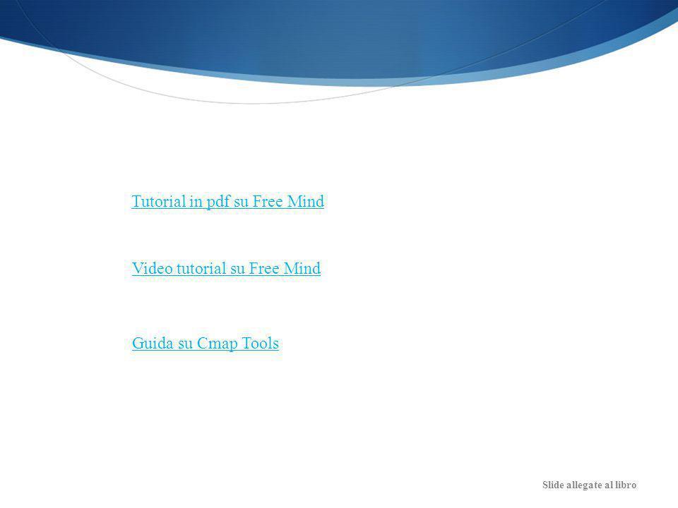 Slide allegate al libro Tutorial in pdf su Free Mind Video tutorial su Free Mind Guida su Cmap Tools