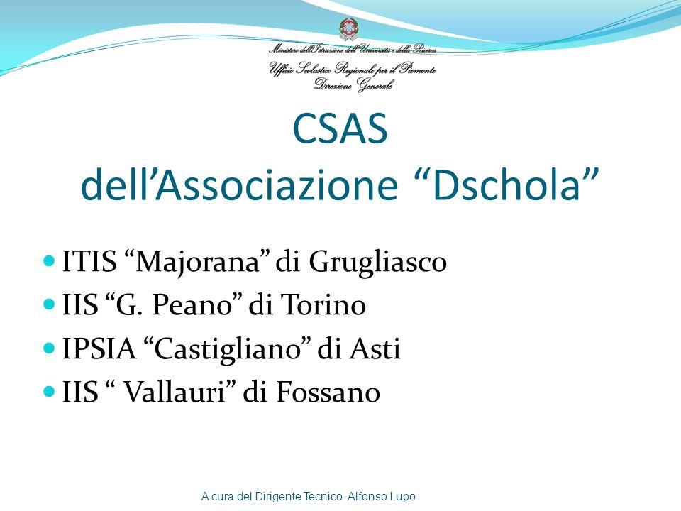Torino ITI MajoranaIIS Peano Asti AlessandriaIIS CastiglianoCuneoIIS Vallauri A cura del Dirigente Tecnico Alfonso Lupo