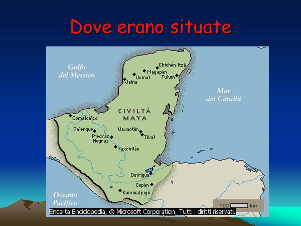 Chi sono i maya .I maya erano il popolo più antico che abitava in America centrale.