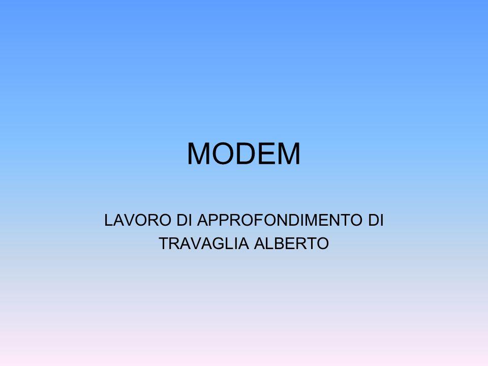 Definizione Il modem è un dispositivo elettronico che rende possibile la comunicazione di più sistemi informatici (ad esempio dei computer) utilizzando un canale di comunicazione a banda acustica (tipicamente una normale linea telefonica).