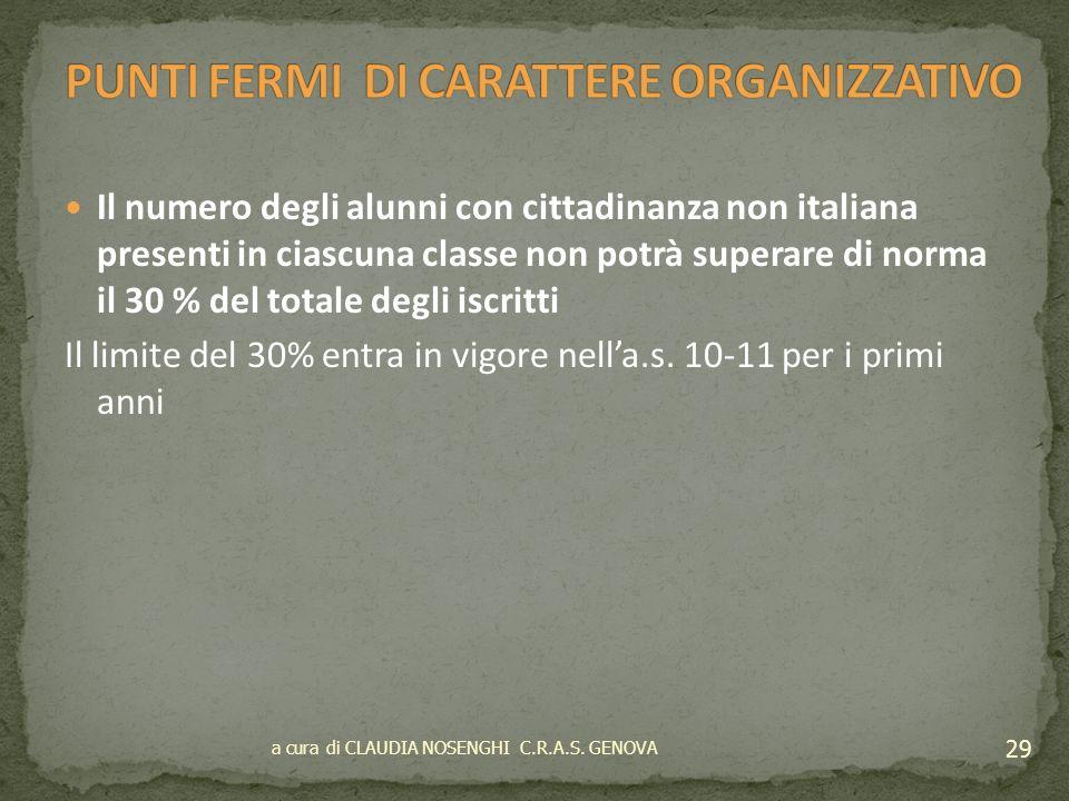Programmare le iscrizioni con azioni concertate con EE.LL. e Prefetture Limitare il numero di studenti con scarse conoscenze della lingua italiana con