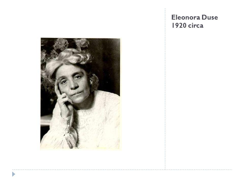 Lettera di Eleonora Duse a Yvette Guilbert, Asolo, 10 settembre 1920, primo foglio Già nel 1913 la Duse aveva progettato di rientrare sulle scene insieme allamica Yvette Guilbert, celebre cantante e regina del Caffé-concerto di Parigi, con uno spettacolo inusuale che prevedeva unalternanza di brani lirici e di canzoni interpretate appunto dalla Guilbert.