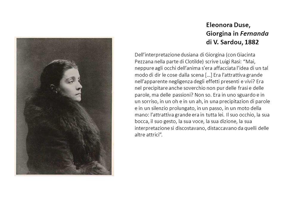 Eleonora Duse, Giorgina in Fernanda di V.