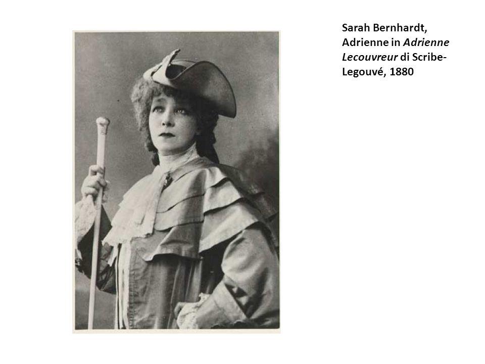 Sarah Bernhardt, Adrienne in Adrienne Lecouvreur di Scribe- Legouvé, 1880