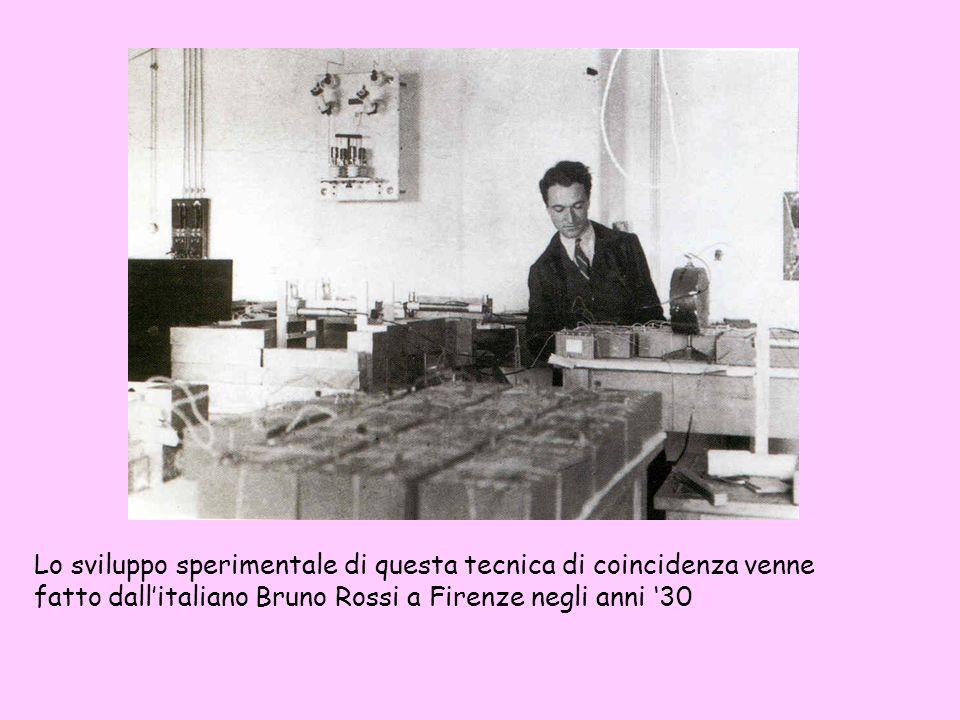 Lo sviluppo sperimentale di questa tecnica di coincidenza venne fatto dallitaliano Bruno Rossi a Firenze negli anni 30