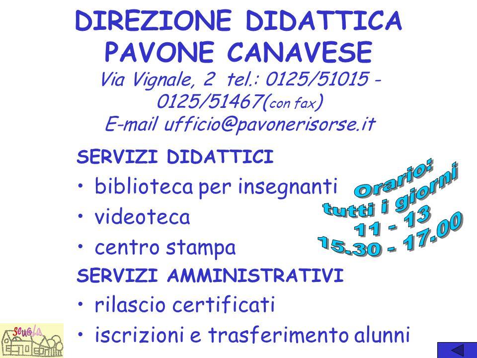 I SITI WEB www.pavonerisorse.it Ha la funzione di: informare i visitatori sulle attività del circolo didattico;animare il dibattito culturale sui prob