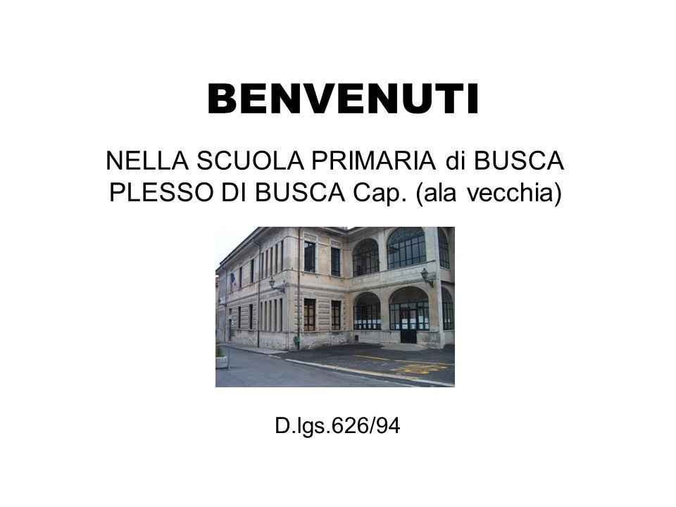 BENVENUTI NELLA SCUOLA PRIMARIA di BUSCA PLESSO DI BUSCA Cap. (ala vecchia) D.lgs.626/94