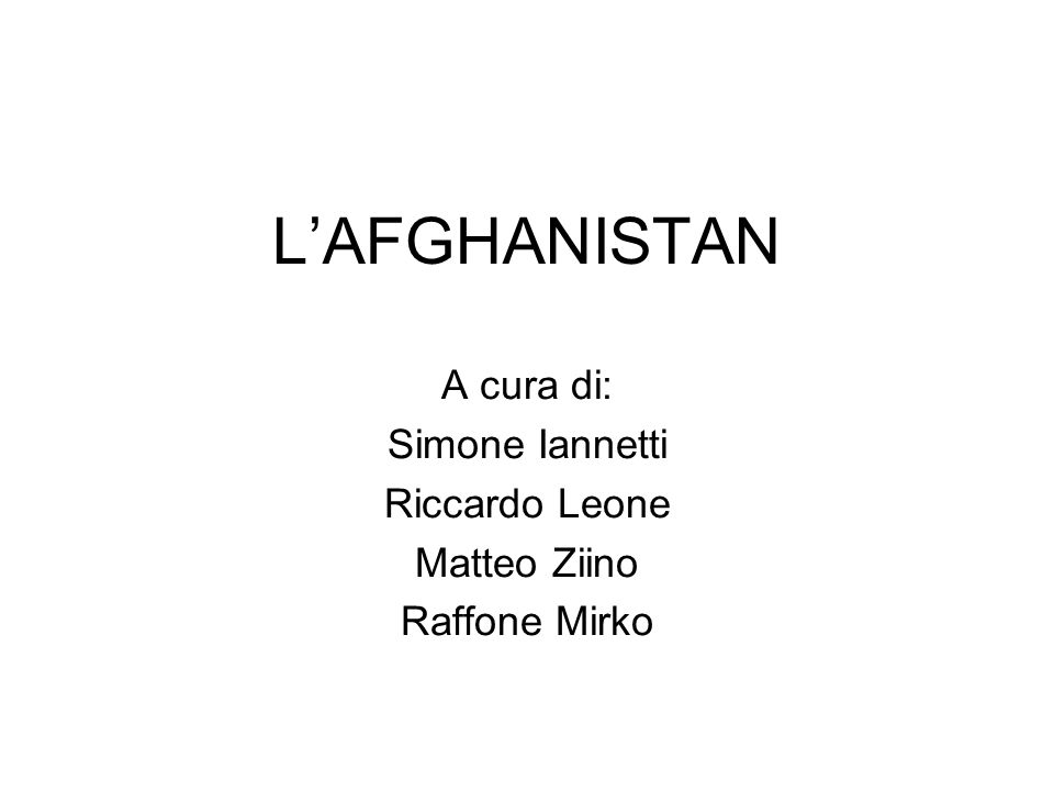 Posizione afghanistan