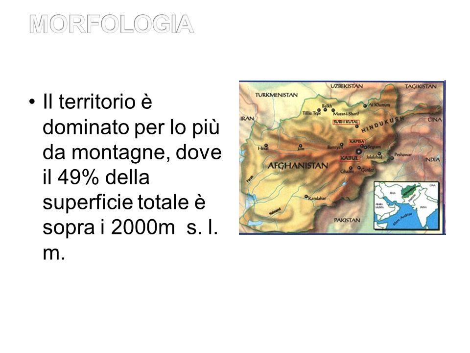 Il territorio è dominato per lo più da montagne, dove il 49% della superficie totale è sopra i 2000m s.