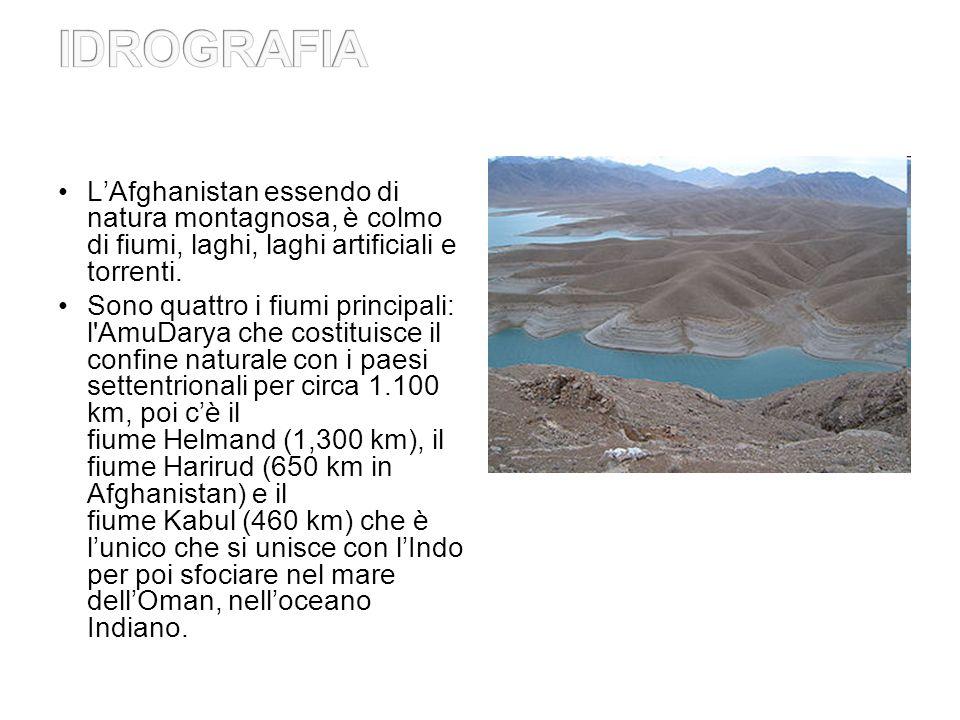LAfghanistan essendo di natura montagnosa, è colmo di fiumi, laghi, laghi artificiali e torrenti.