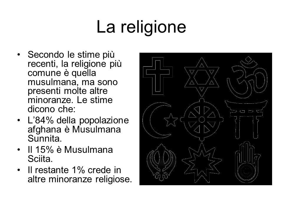 La religione Secondo le stime più recenti, la religione più comune è quella musulmana, ma sono presenti molte altre minoranze.