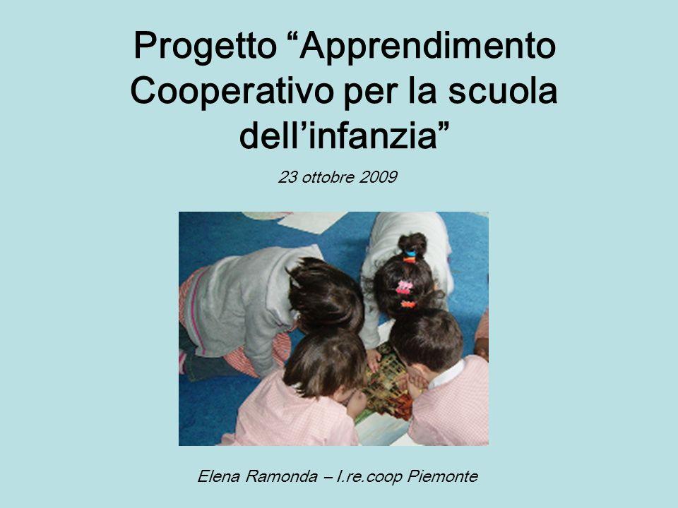 Progetto Apprendimento Cooperativo per la scuola dellinfanzia 23 ottobre 2009 Elena Ramonda – I.re.coop Piemonte