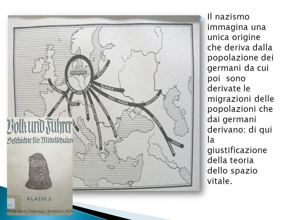 Il nazismo immagina una unica origine che deriva dalla popolazione dei germani da cui poi sono derivate le migrazioni delle popolazioni che dai german