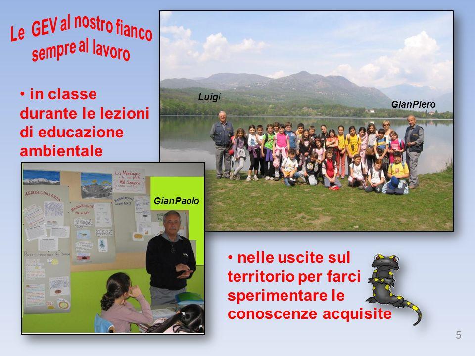 Luigi GianPaolo GianPiero in classe durante le lezioni di educazione ambientale nelle uscite sul territorio per farci sperimentare le conoscenze acqui
