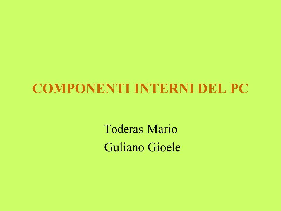 COMPONENTI INTERNI DEL PC Toderas Mario Guliano Gioele