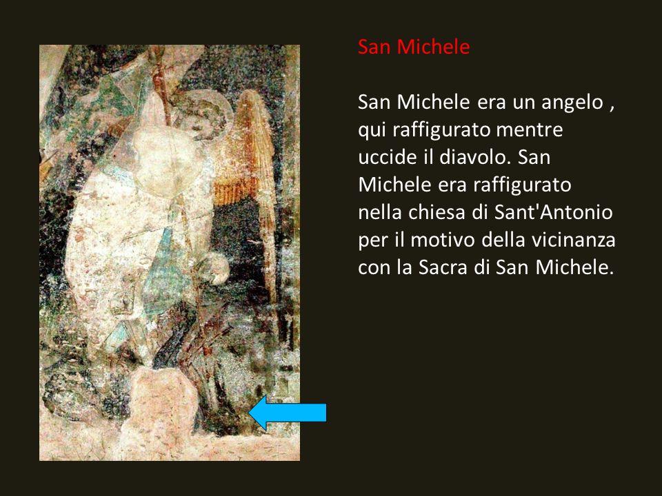 San Michele San Michele era un angelo, qui raffigurato mentre uccide il diavolo.