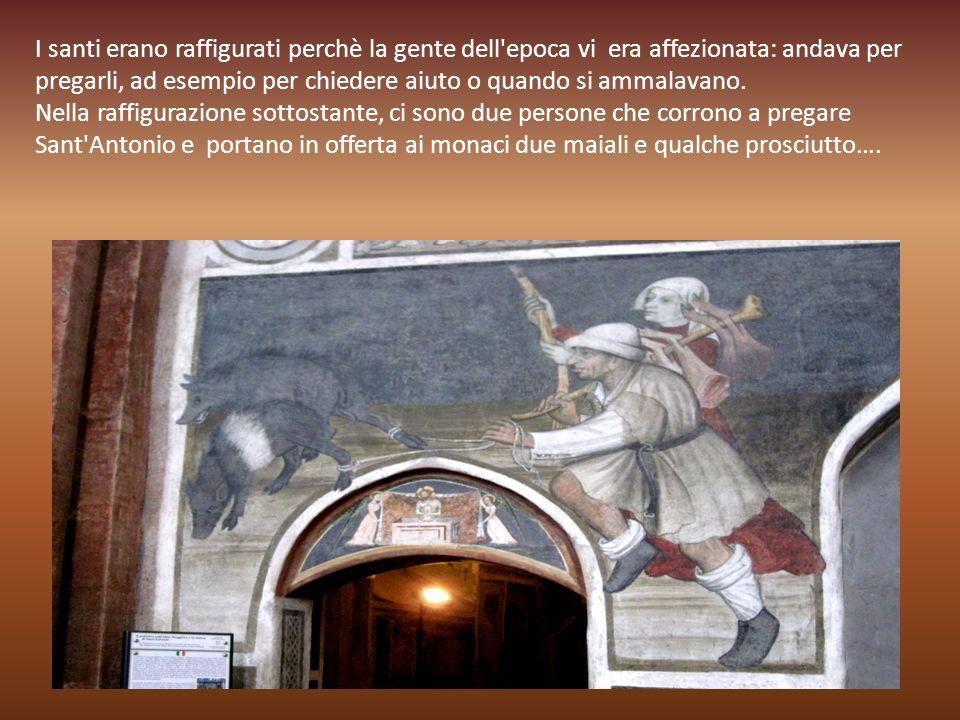La maggior parte dei santi raffigurati si trovano nel presbiterio e nella sacrestia