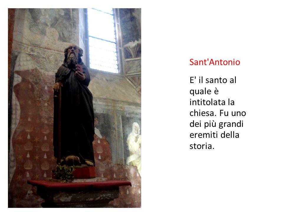 Sant Antonio E il santo al quale è intitolata la chiesa.