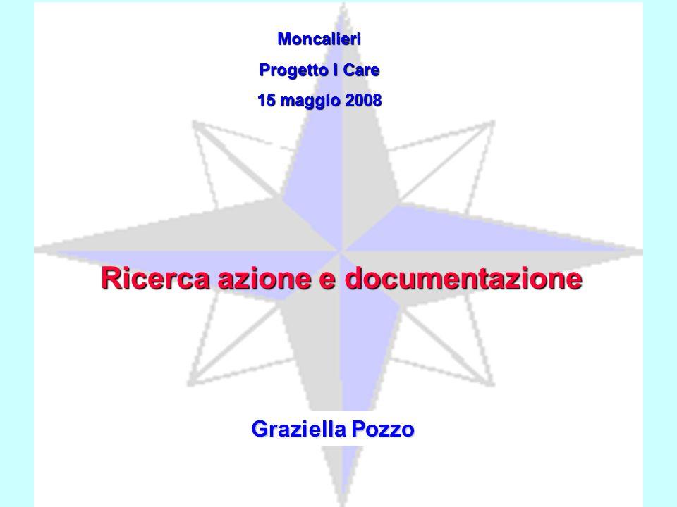 Moncalieri Progetto I Care 15 maggio 2008 Graziella Pozzo Ricerca azione e documentazione