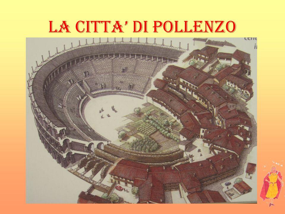 LA CITTA DI POLLENZO Sotto lattuale piazza Vittorio Emanuele (davanti alla chiesa) i recenti studi hanno portato alla luce un importante necropoli. I