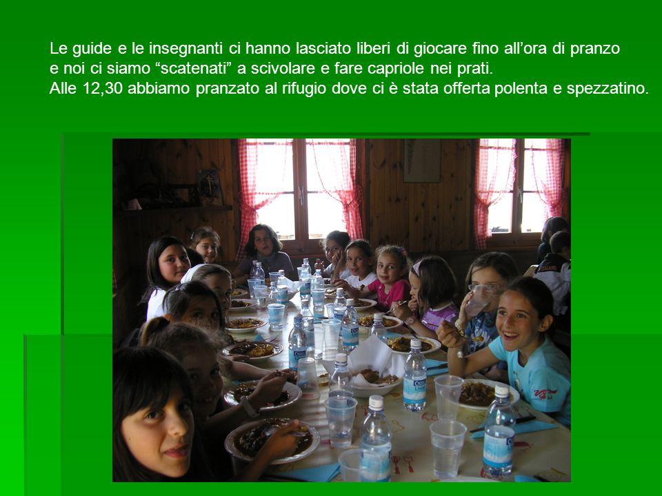Le guide e le insegnanti ci hanno lasciato liberi di giocare fino allora di pranzo e noi ci siamo scatenati a scivolare e fare capriole nei prati. All
