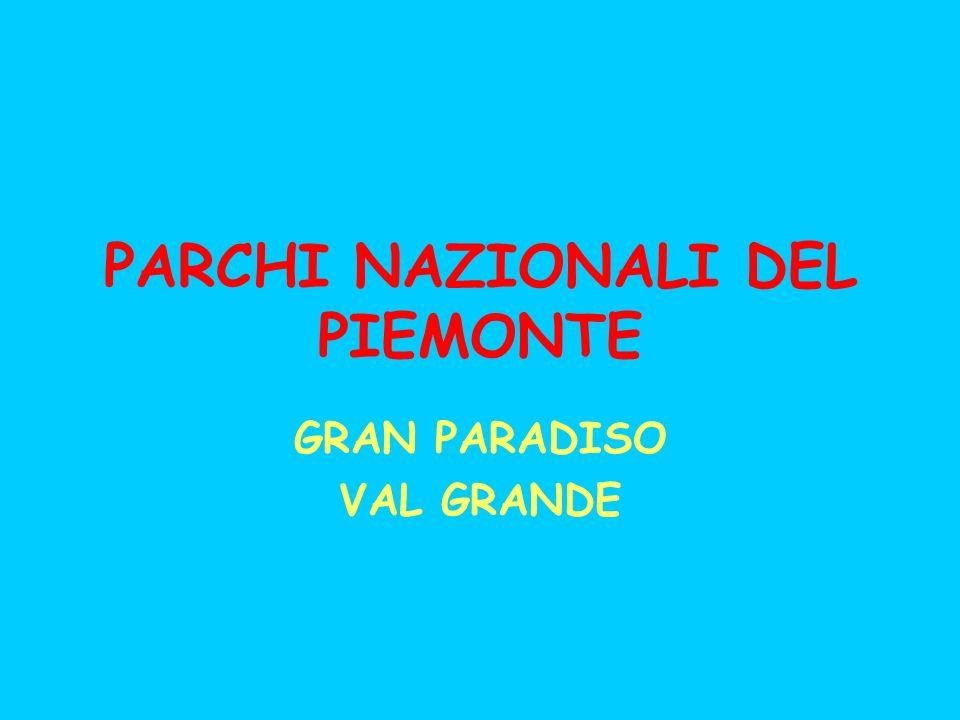 PARCHI NAZIONALI DEL PIEMONTE GRAN PARADISO VAL GRANDE
