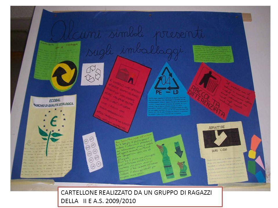 CARTELLONE REALIZZATO DA UN GRUPPO DI RAGAZZI DELLA II E A.S. 2009/2010