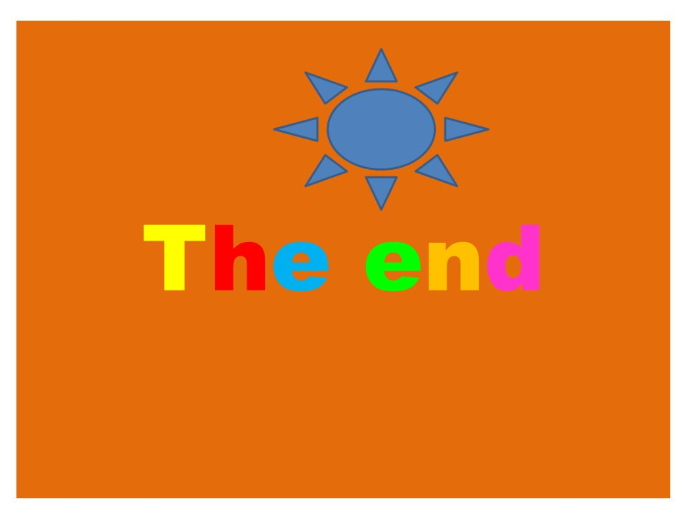 The endThe end