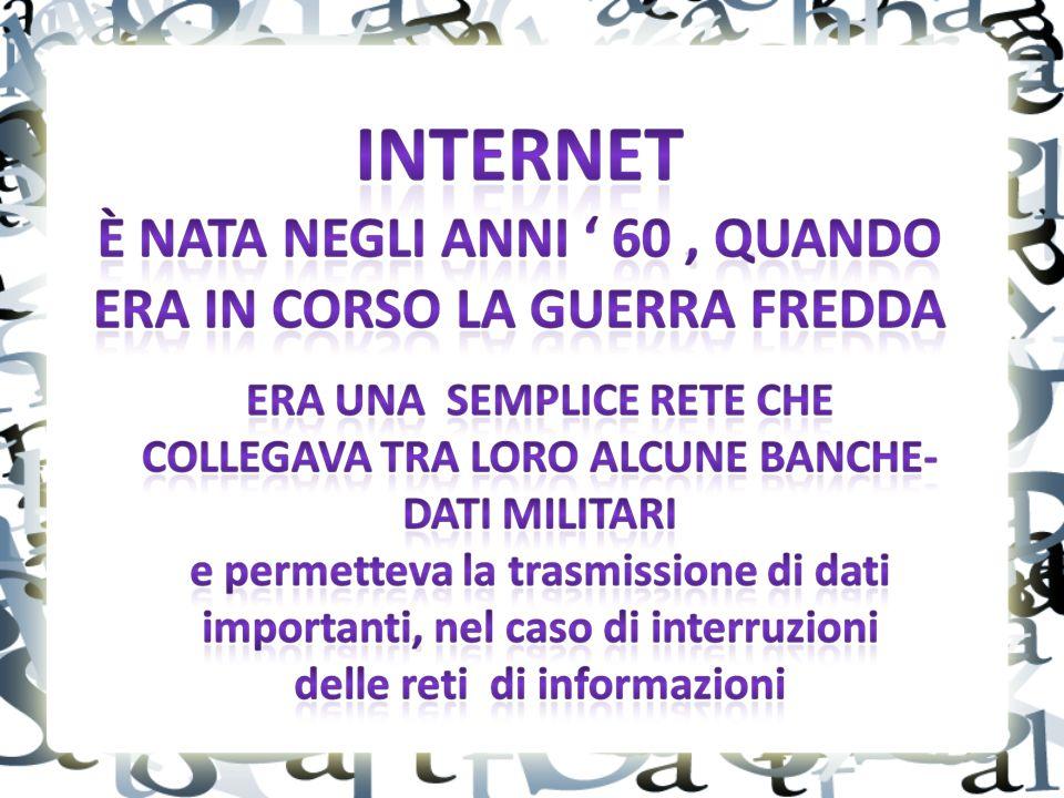 Il Web è costituito da miliardi e miliardi di pagine...