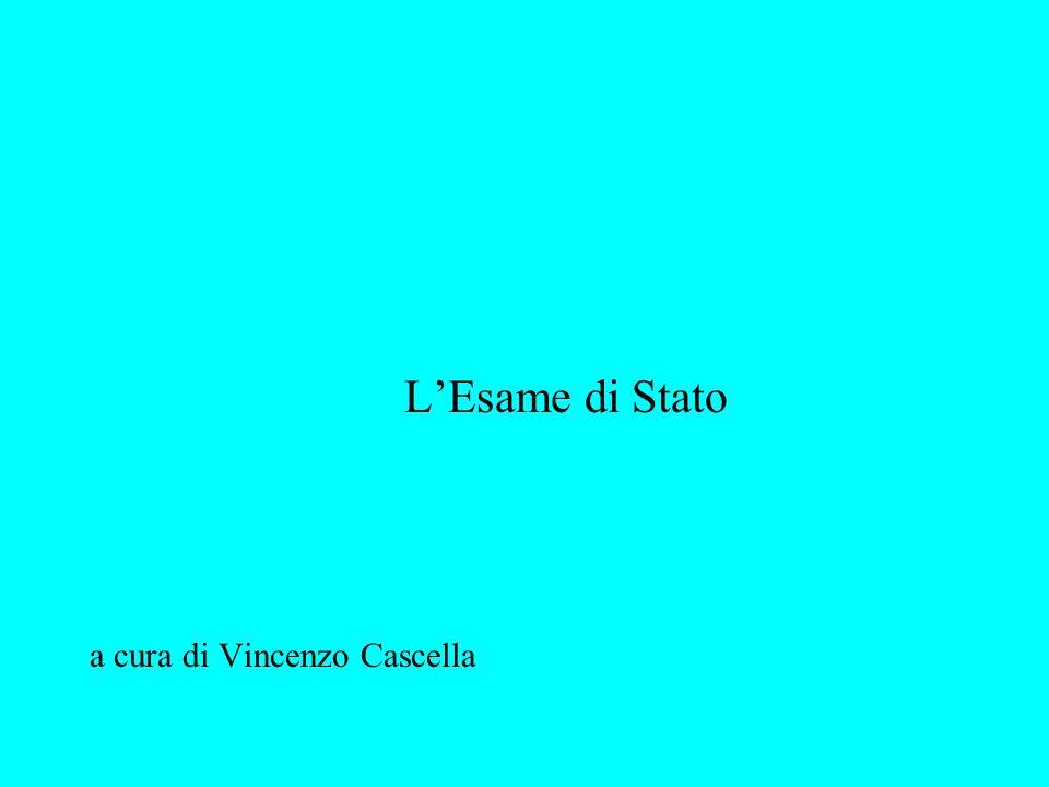 ESAME DI STATO LEGGE 10 dicembre 1997, n.425 D.P.R.
