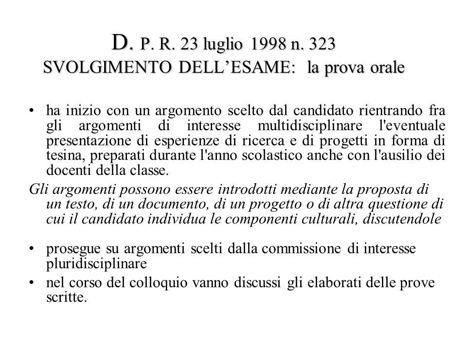 D. P. R. 23 luglio 1998 n.