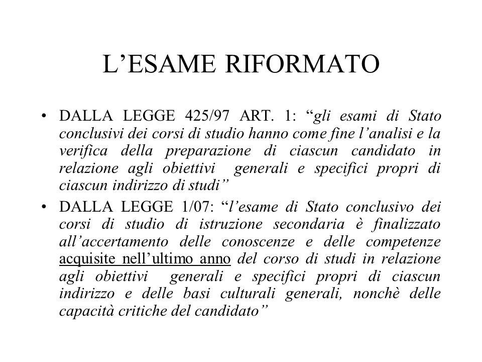 LESAME RIFORMATO DALLA LEGGE 425/97 ART.