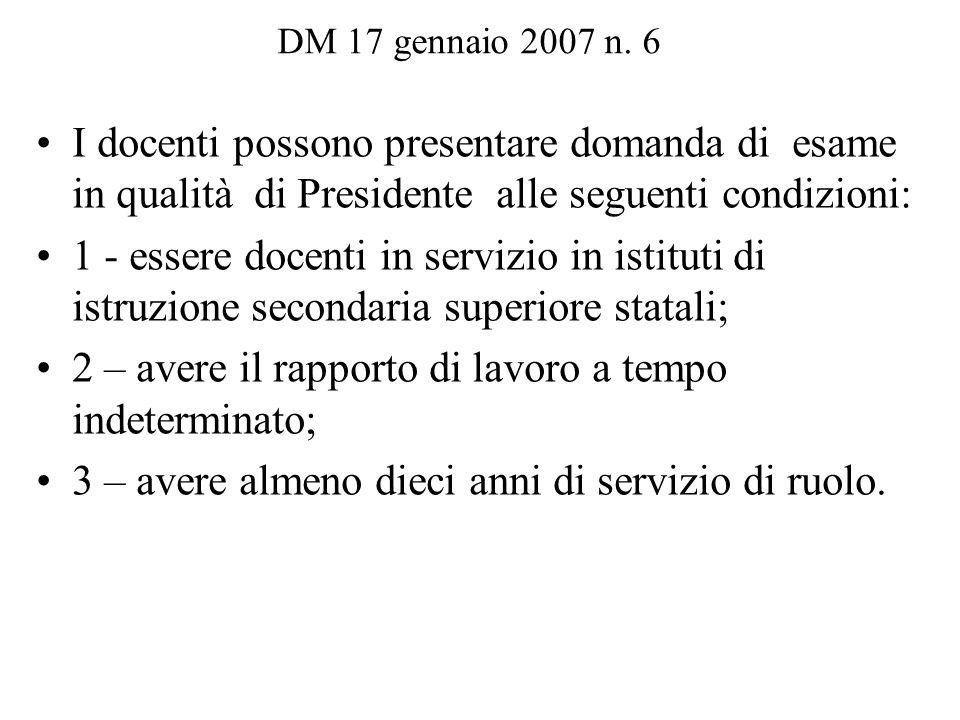 DM 17 gennaio 2007 n.