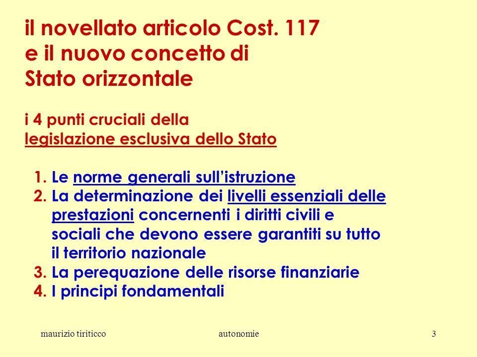 maurizio tiriticcoautonomie3 il novellato articolo Cost.