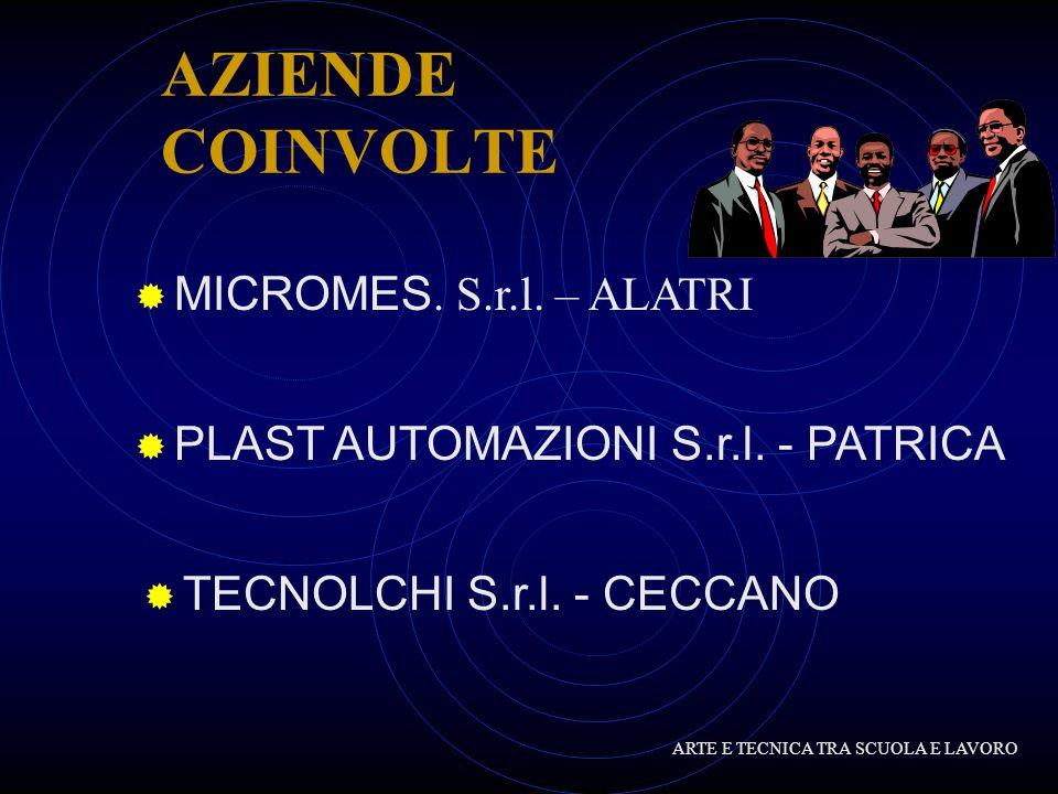 AZIENDE COINVOLTE TECNOLCHI S.r.l.- CECCANO PLAST AUTOMAZIONI S.r.l.