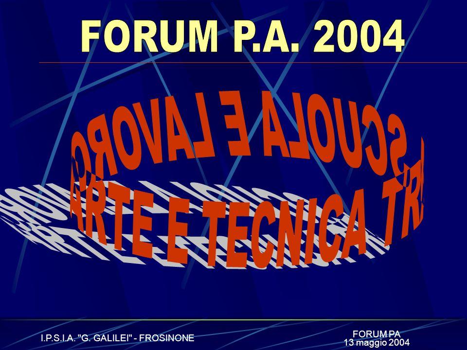 FORUM PA I.P.S.I.A. G. GALILEI - FROSINONE 13 maggio 2004