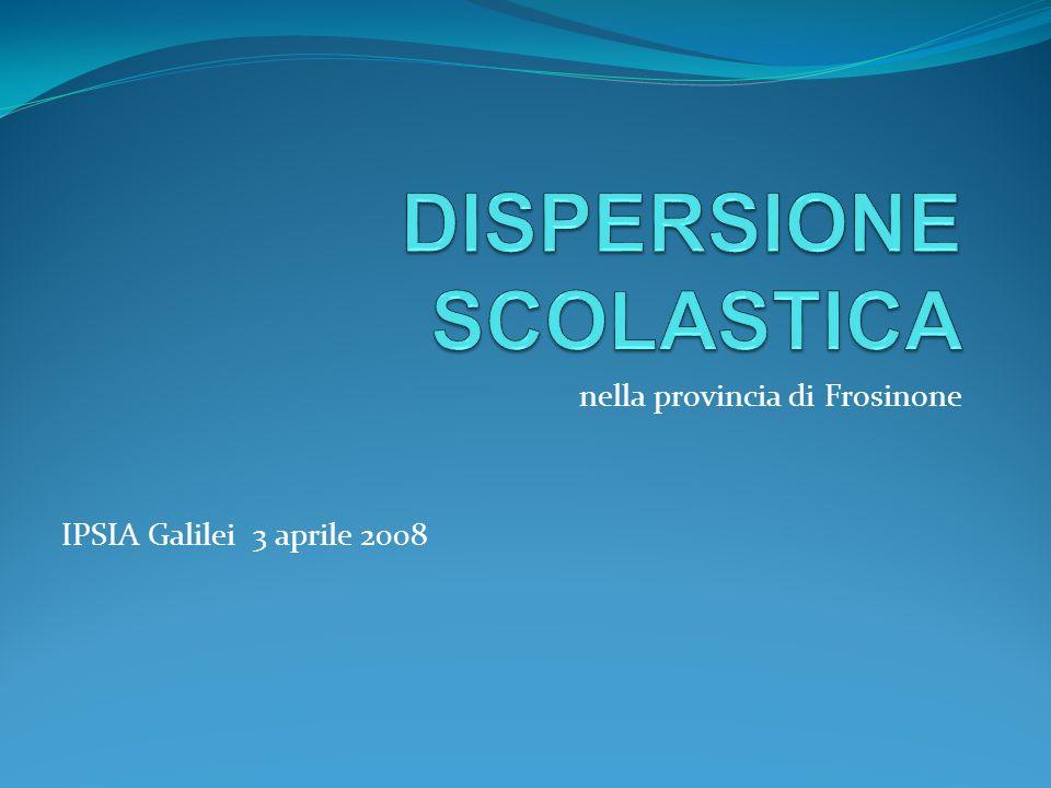 nella provincia di Frosinone IPSIA Galilei 3 aprile 2008