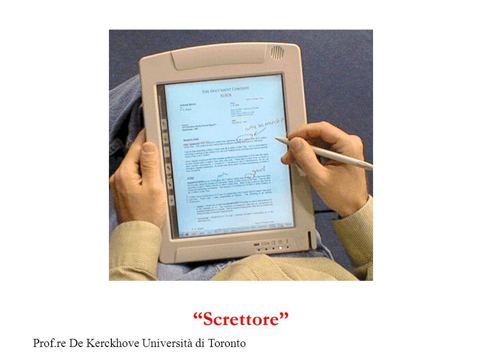 Screttore Prof.re De Kerckhove Università di Toronto
