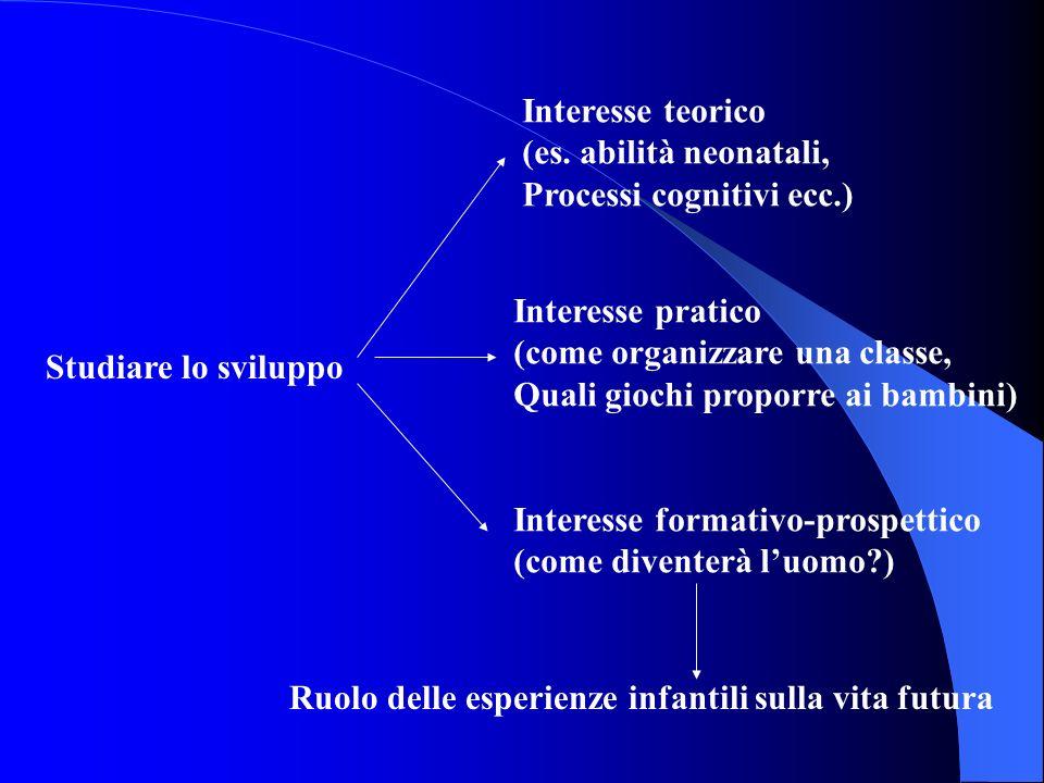 Studiare lo sviluppo Interesse teorico (es.