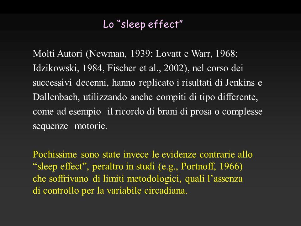 Molti Autori (Newman, 1939; Lovatt e Warr, 1968; Idzikowski, 1984, Fischer et al., 2002), nel corso dei successivi decenni, hanno replicato i risultat
