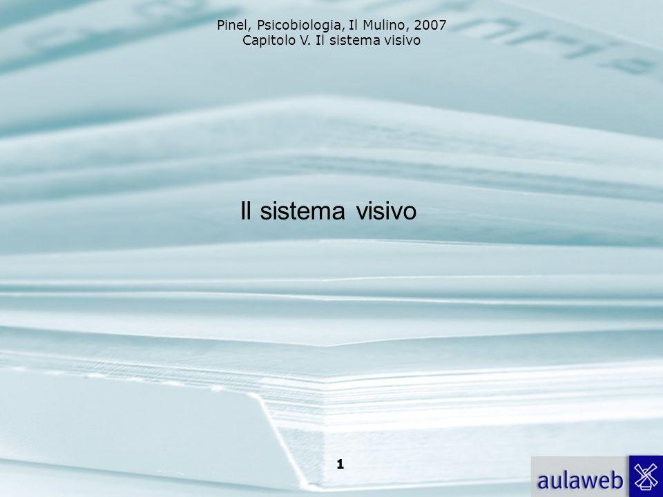 Pinel, Psicobiologia, Il Mulino, 2007 Capitolo V. Il sistema visivo 1 Il sistema visivo